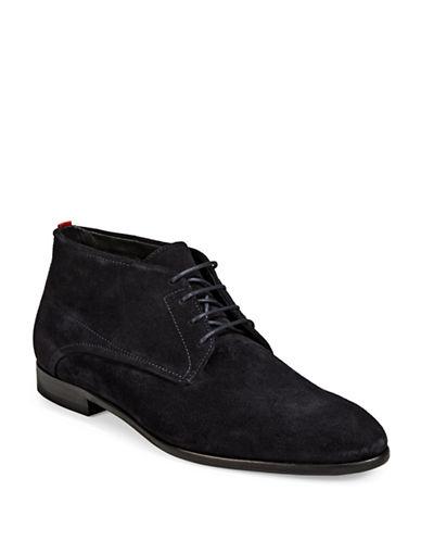 Hugo Suede Chukka Boots-BLUE-11.5