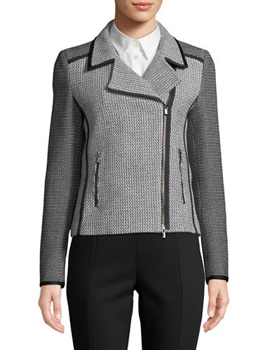 Hugo Alynes Tweed Moto Jacket-GREY-EUR 42/US 10