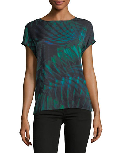 Hugo Nosetta Silk Jersey Tee-MULTI-Large