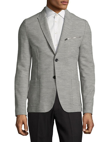 Hugo Aprino Wool-Blend Blazer-GREY-46
