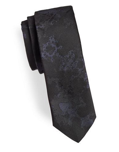 Hugo Textured Silk Tie-BLUE-One Size
