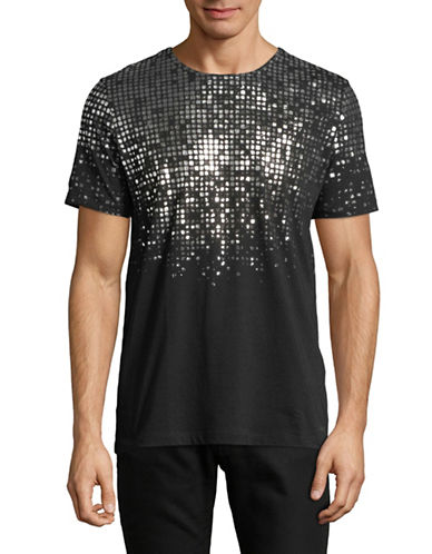 Hugo Dilver Cotton Tee-BLACK-Large