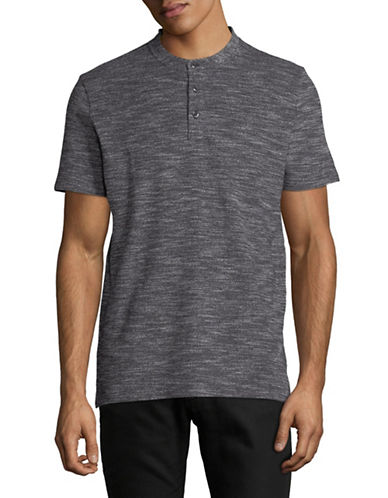 Hugo Heathered Cotton Polo-CHARCOAL-X-Large