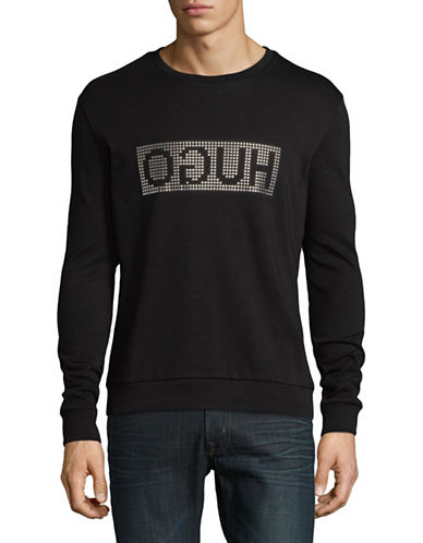 Hugo Dicagolo Cotton Sweatshirt-BLACK-Small