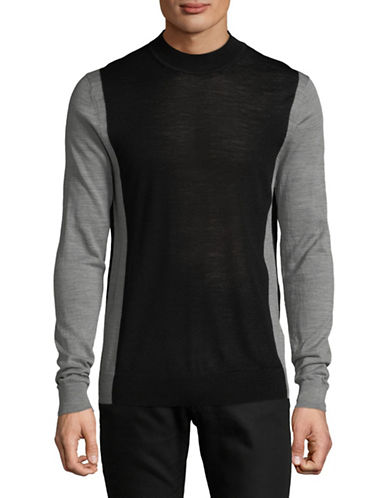 Hugo Seito Wool-Blend Sweater-GREY-Small