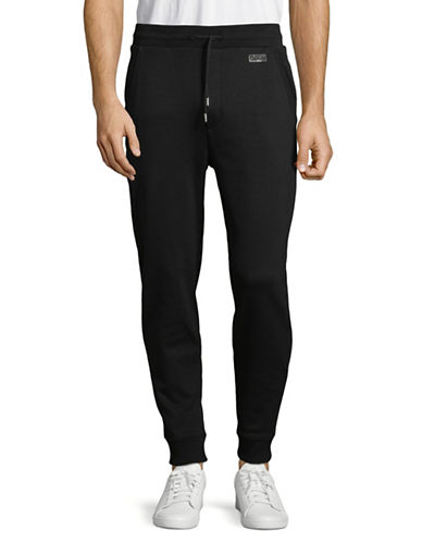 Hugo Dandler Jersey Cotton Jogger Pants-BLACK-Large
