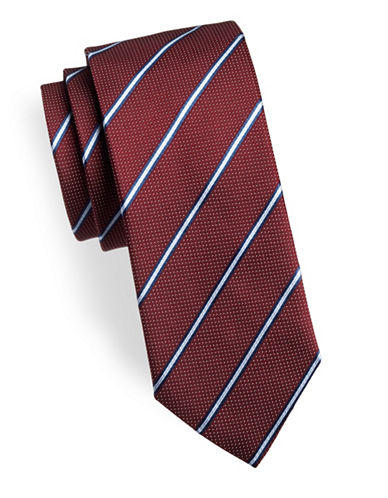 Hugo Striped Silk Tie-RED-One Size