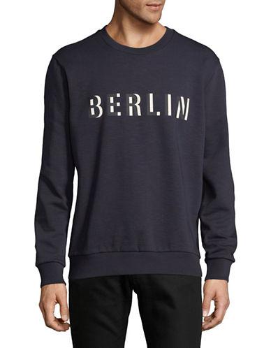 Hugo Derlino Cotton Sweatshirt-BLUE-Medium