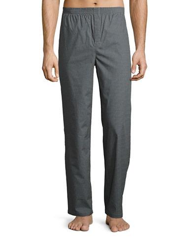 Boss Printed Sateen Sleep Pants-GREY-Medium 88626730_GREY_Medium