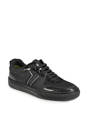 Boss Green Enlight Knit Tennis Sneakers-BLACK-8