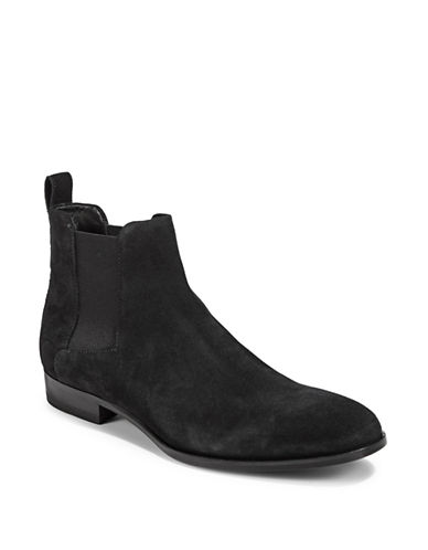 Hugo Cult Suede Chelsea Boots-DARK BLUE-11