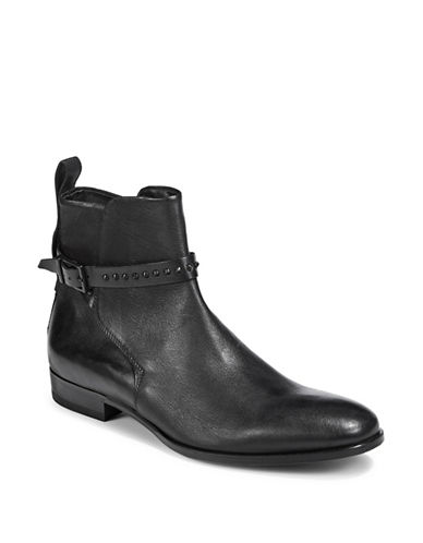 Hugo Cult Leather Ankle Boots-BLACK-8