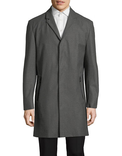 Hugo Miscaro Wool-Blend Coat-GREY-44