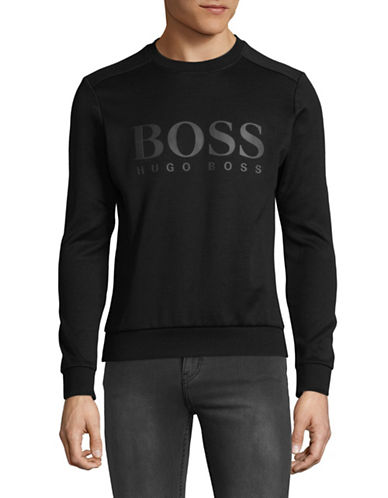 Boss Green Salbo Crew Neck Sweatshirt-BLACK-Medium 89754223_BLACK_Medium