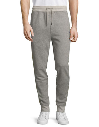Boss Orange Cotton-Blend Sweatpants-GREY-Small 89727251_GREY_Small