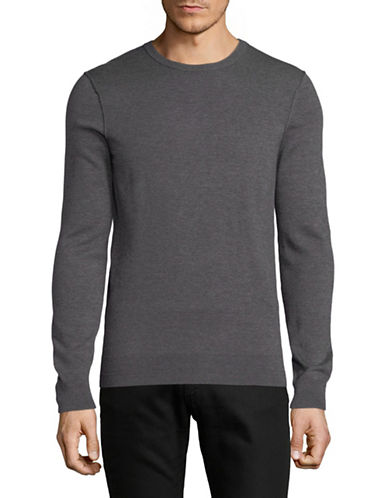 Boss Orange Cashmere-Blend Crew Neck Sweater-GREY-X-Large 89727235_GREY_X-Large