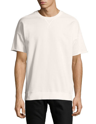Hugo Dorgan Crew Neck T-Shirt-NATURAL-Small