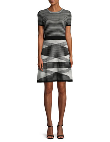 Hugo Siyanda Waffle-Knit Dress-BLACK-Medium
