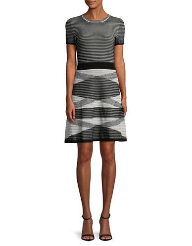 Hugo Siyanda Waffle-Knit Dress-BLACK-X-Large