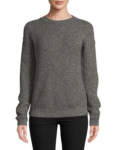 Hugo Sejena Waffle-Knit Sweater-GREY-Small