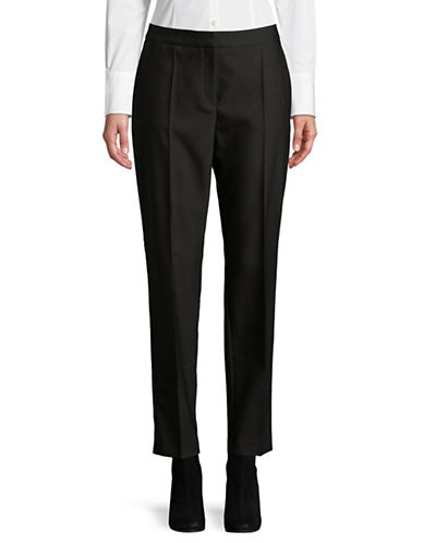 Hugo Kelly Satin Tuxedo Pant-BLACK-EUR 42/US 10
