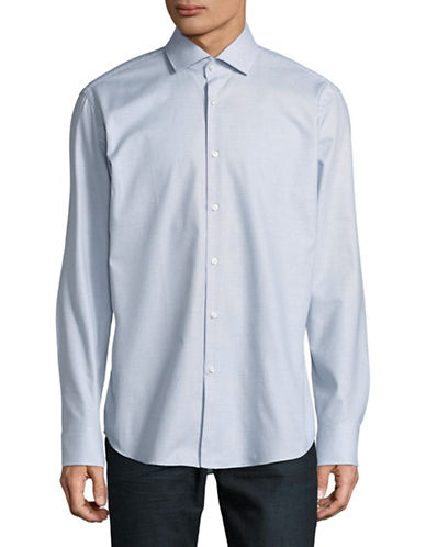 Hugo C-Gordon Cotton Sport Shirt-BLUE-EU 44/US 17.5