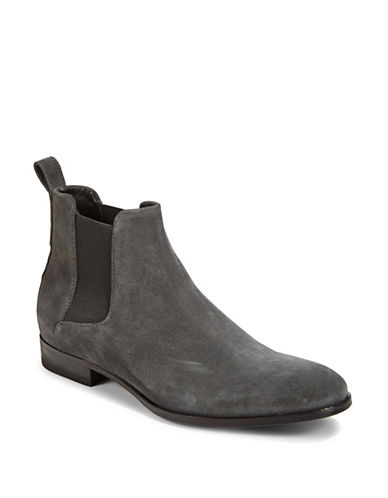 Hugo Cult Suede Chelsea Boots-DARK GREY-9.5