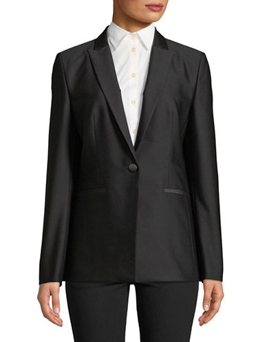 Hugo Wool-Blend Blazer-BLACK-EUR 32/US 0