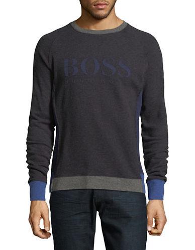 Boss Orange Wenga Logo Long Sleeve T-Shirt-BLACK-Small