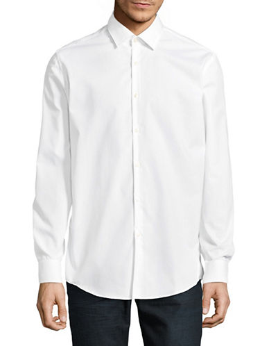 Hugo Joey Cotton Sport Shirt-WHITE-EU 42/US 16.5