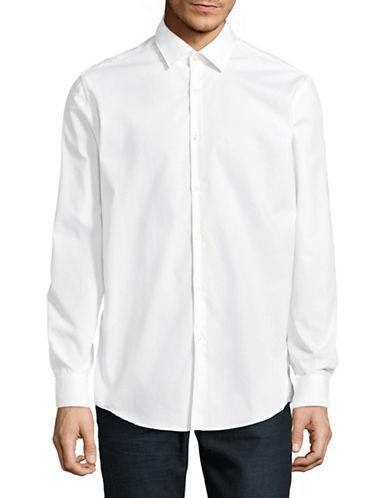 Hugo Joey Cotton Sport Shirt-WHITE-EU 38/US 15