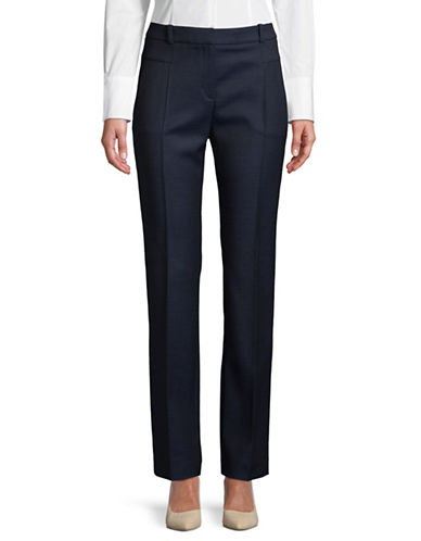 Hugo Hadelia Wool-Blend Pants-NAVY-EUR 38/US 6