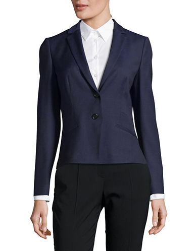 Hugo Anikis Wool-Blend Jacket-NAVY-EUR 34/US 2