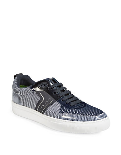Boss Green Enlight Knit Tennis Sneakers-DARK BLUE-11