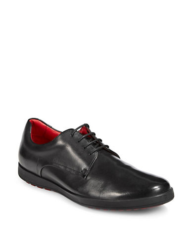 Hugo Lace-Up Leather Derbys-BLACK-9