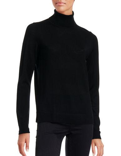 Hugo Virgin Wool Turtleneck-BLACK-X-Large