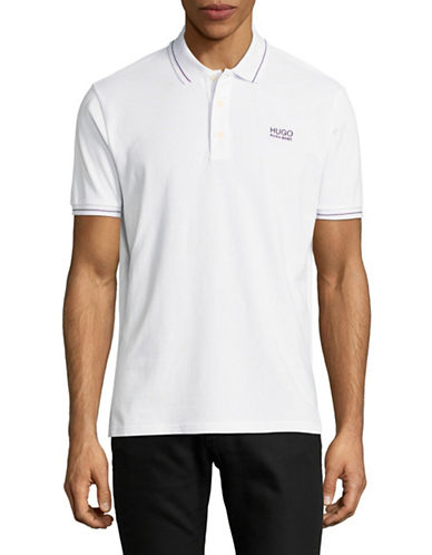 Hugo Daruso Cotton Polo-WHITE-X-Large