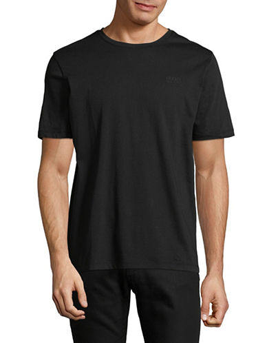Hugo Dero Short-Sleeve Cotton Tee-BLACK-Medium