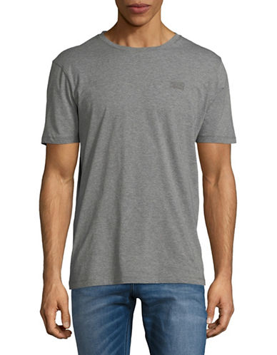 Hugo Dero Short-Sleeve Cotton Tee-GREY-Medium