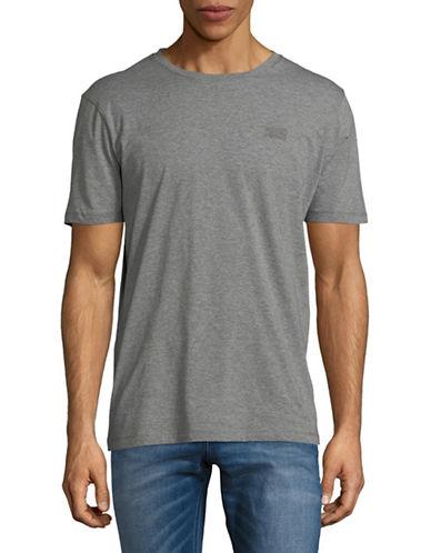 Hugo Dero Short-Sleeve Cotton Tee-GREY-X-Large