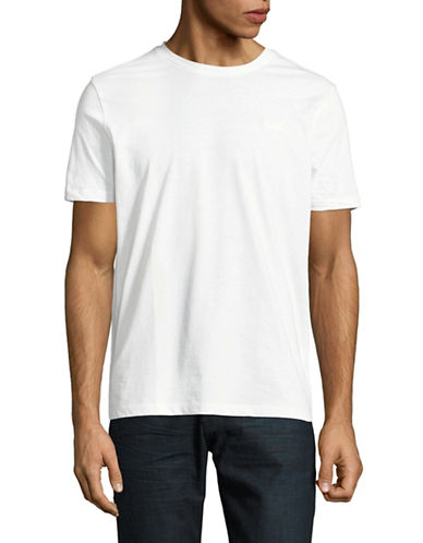Hugo Dero Short-Sleeve Cotton Tee-WHITE-Small