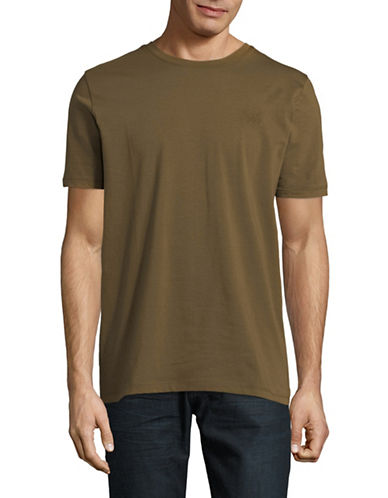 Hugo Dero Short-Sleeve Cotton Tee-GREEN-Large