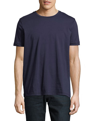 Hugo Dero Short-Sleeve Cotton Tee-BLUE-Medium