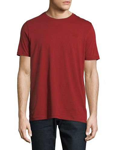 Hugo Dero Short-Sleeve Cotton Tee-RED-Large