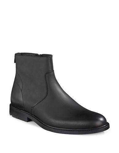 Boss Orange Cultroot Side-Zip Leather Boots-BLACK-UK 7/US 8 88600628_BLACK_UK 7/US 8