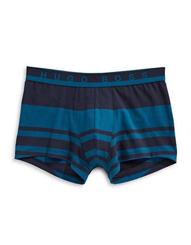 Boss Stripe Cotton Trunks-BLUE-Small