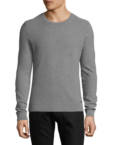 Hugo Sedeeron Cotton Sweater-GREY-Large
