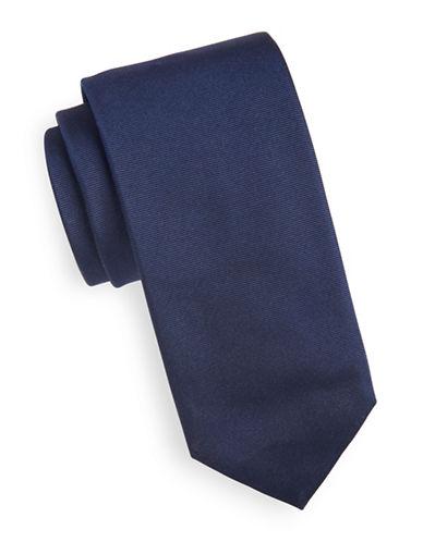 Hugo Slim Silk Tie-NAVY-One Size