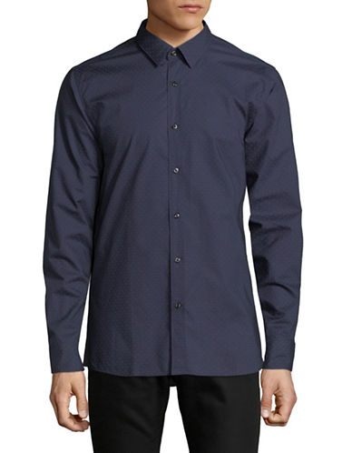 Hugo Elisha Cotton Sport Shirt-RED-X-Large