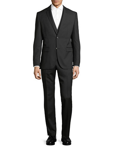Hugo Jayson and Sander Wool Suit-BLACK-46